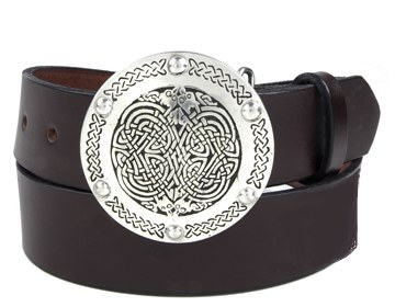 Plain Belt-Interlacing Knot Buckle-Chocolate Brown