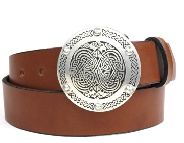 Plain Belt-Interlacing Knot Buckle-Canyon Brown