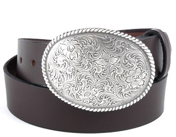 Plain Belt-Clarkdale Buckle-Chocolate Brown