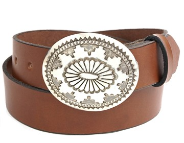 Plain Belt-Navajo 2 Buckle-Canyon Brown