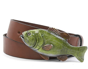 Plain Belt-Tape Measure Fish Buckle-Canyon Brown