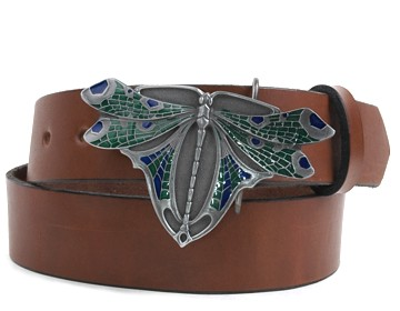 Plain Belt-Dragonfly Buckle-Canyon Brown