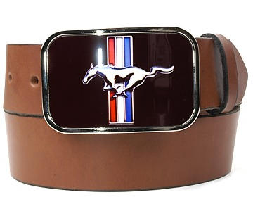 Plain Belt-Mustang Buckle-Canyon Brown