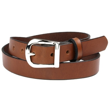 Plain Belt-Silver Horseshoe Buckle-Canyon Brown