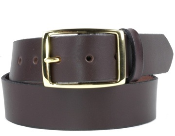 Double Thick Belt-Br. Rec-Chocolate Brown