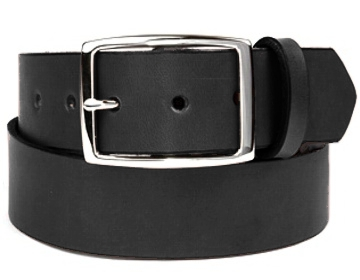 Double Thick Belt-Sil. Rec-Black