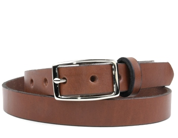 Plain Belt-Silver Rectangle Buckle-Canyon Brown