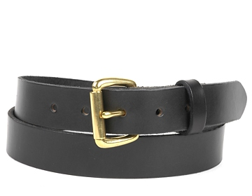 Double Thick Belt-Br.Roller-Black