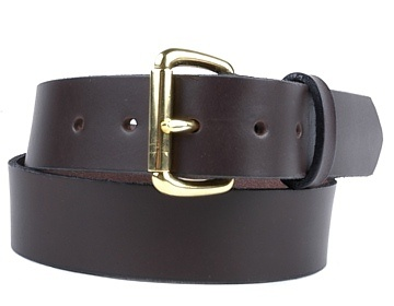 Double Thick Belt-Br.Roiller-Chocolate Brown