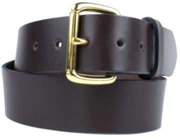 Double Thick Belt-Br.Roller-Chocolate Brown