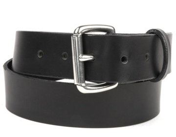Double Thick Belt-Sil.Roller-Black