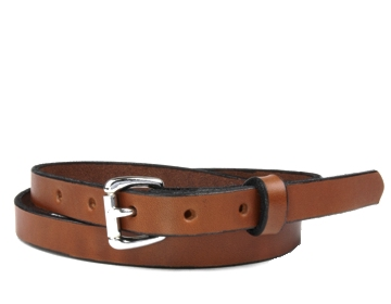 Plain Belt-Silver Roller Buckle-Canyon Brown