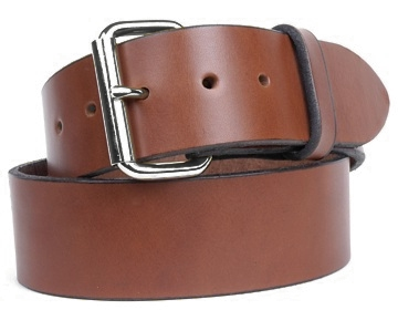 Harness Belt-Silver Roller Buckle-Canyon Brown