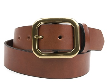 Plain Belt-Ant. Br. Clipped Corner-Canyon Brown