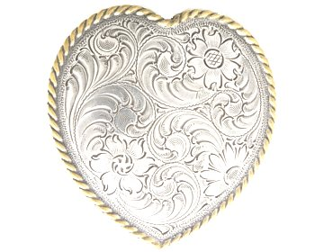 Silver & Gold Heart