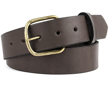Double Thick Belt-Ant.B EndB-Chocolate Brown