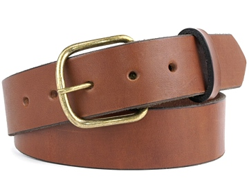 Double Thick Belt-Ant.BrEndB-Canyon Brown