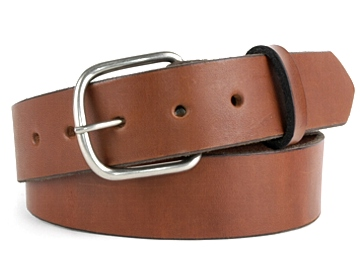 Double Thick Belt-Ant Sil End Bar-Canyon Brown