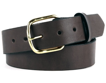 Double Thick Belt-Br.End Bar-Chocolate Brown
