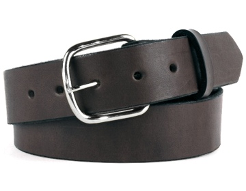 Double Thick Belt-Sil.EndBar-Chocolate Brown
