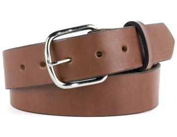Double Thick Belt-Silver End Bar-Canyon Brown