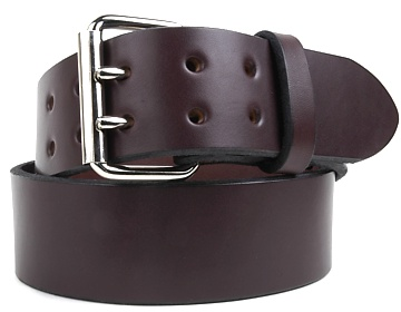 Harness Belt-2 Prong Silver Roller-Chocolate Brown