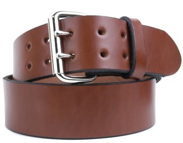 Harness Belt-2 Prong Silver Roller-Canyon Brown