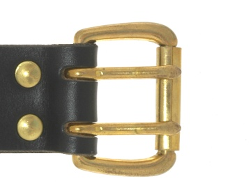 Brass 2 Prong Buckle<BR>1 1/2""