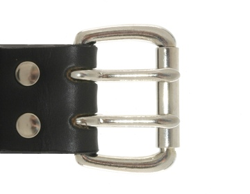 Silver 2 Prong Buckle<BR>1 1/2""