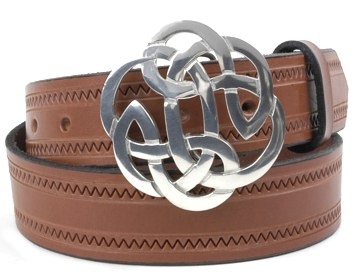 Zig Zag Belt-Lugh's Knot Buckle-Canyon Brown