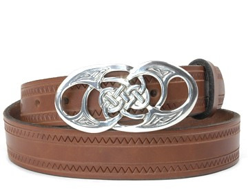 Zig Zag Belt-Twisted Loop Buckle-Canyon Brown