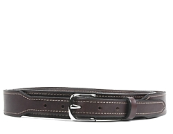 Taper Belt-Silver End Bar Buckle-Chocolate Brown