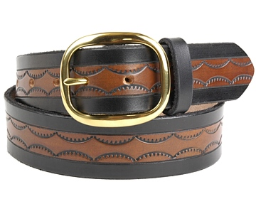 MBK13-Brass Oval-Black & Brown