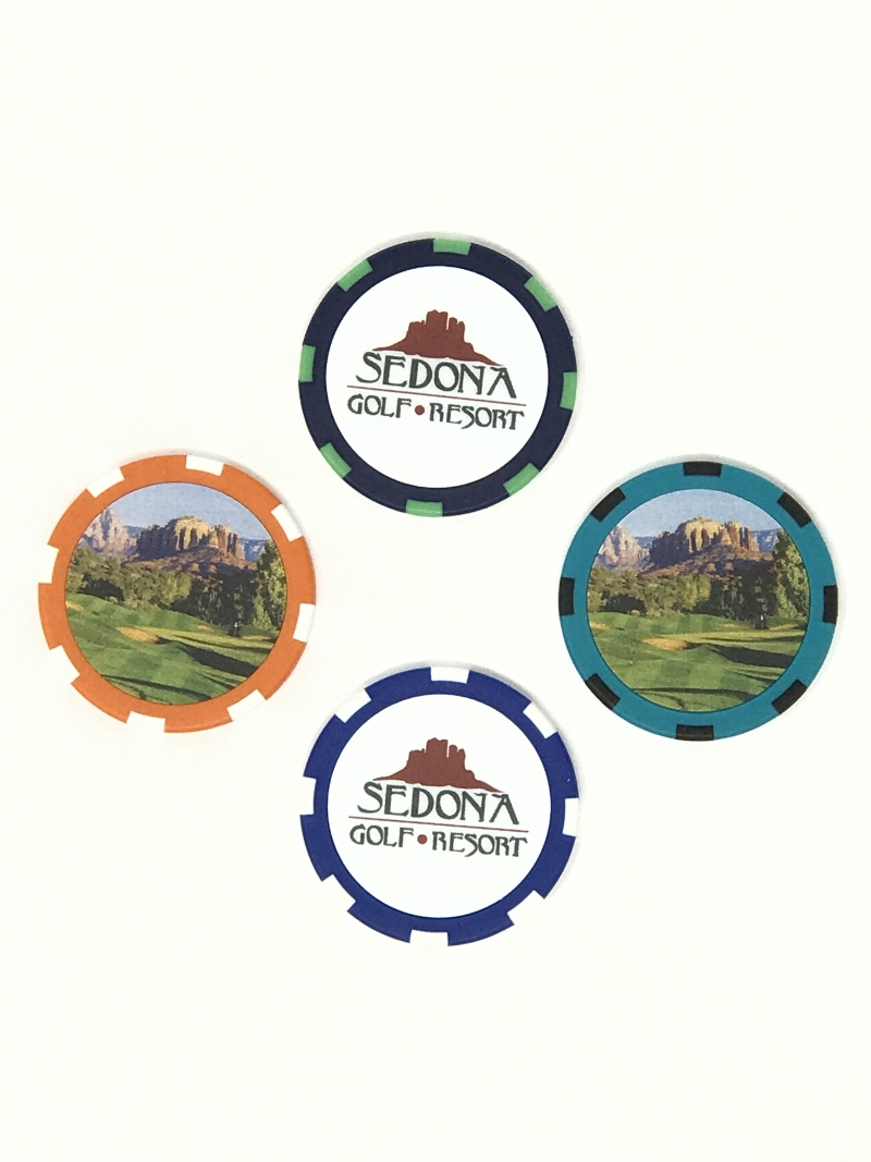 Logo Golf Chip, Assorted Colors