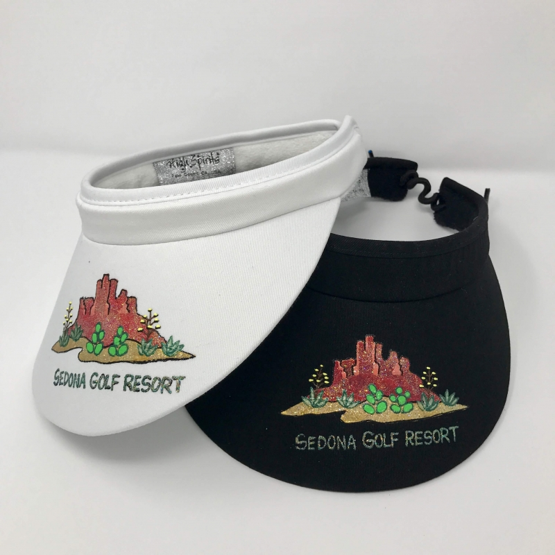 Hand Painted Ladies Visor