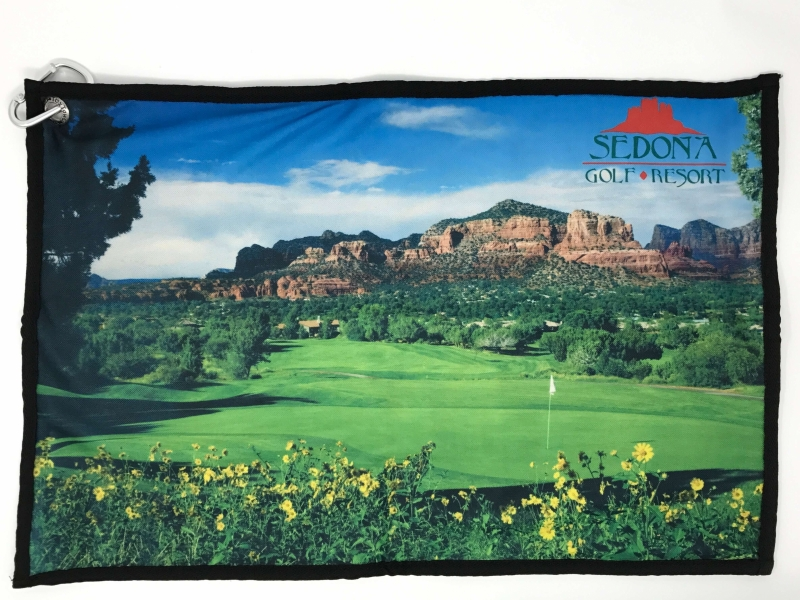 Photo towel of the 6th hole