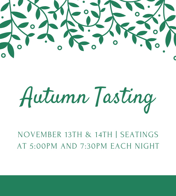 Autumn Tasting at Chambers Bay on November 13th and 14th