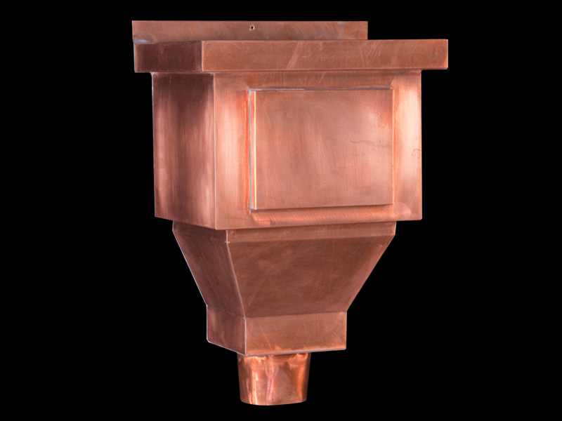 Leader Heads And Conductor Heads : Copper conductor heads leader collector box scupper hopper