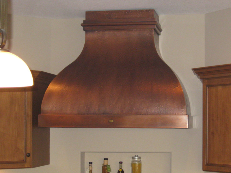 Custom Copper Range Hoods