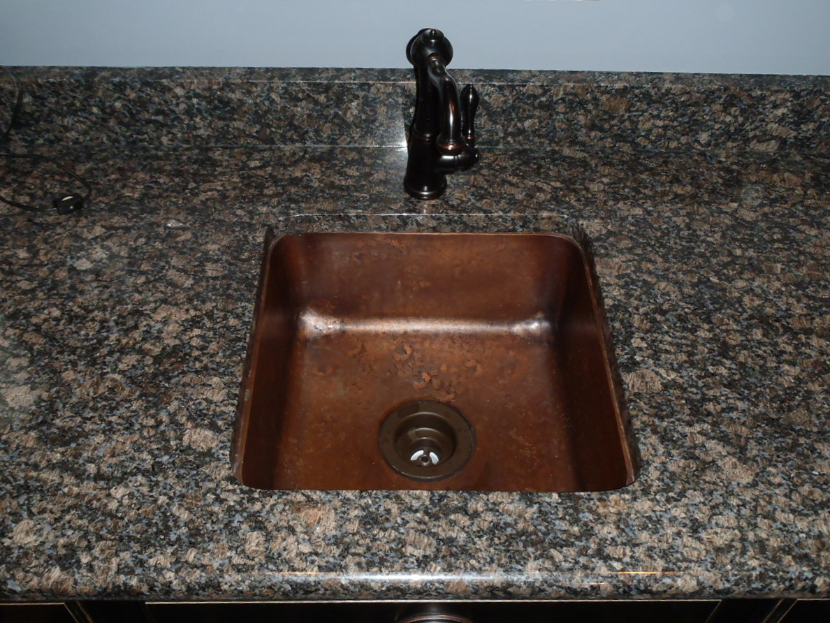 Copper Bar Sinks Prep Custom By Circle City