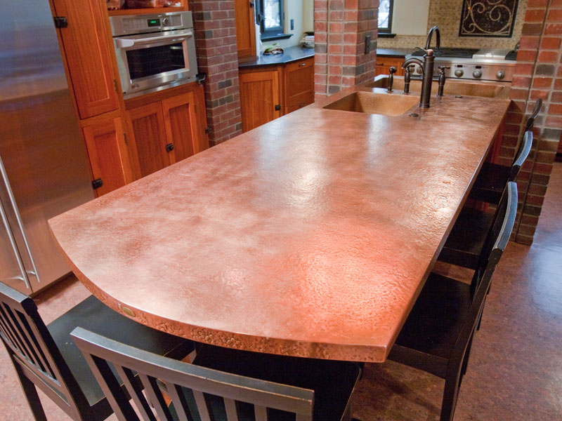 copper countertops kitchen bath circle city copperworks