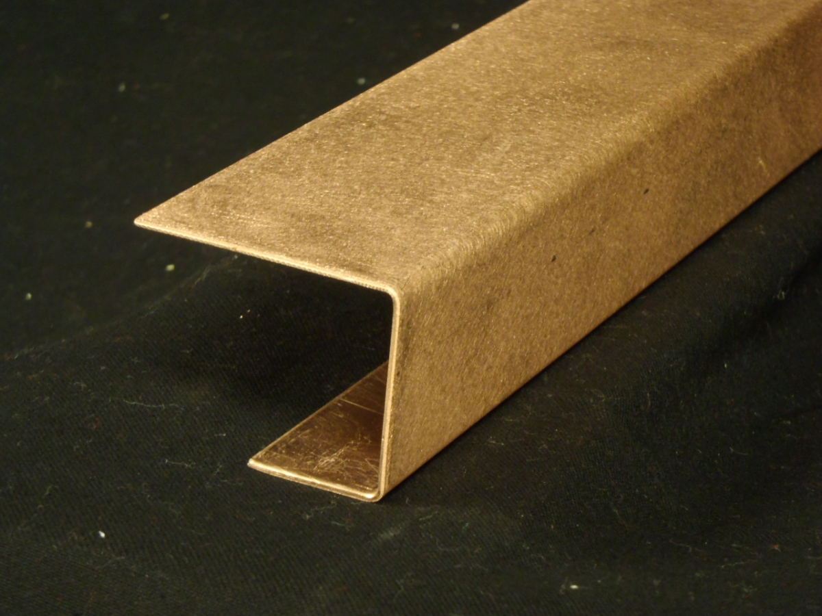 Copper Bar Top Edges