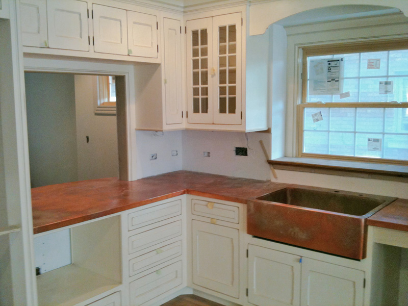 Flamed Copper Countertop