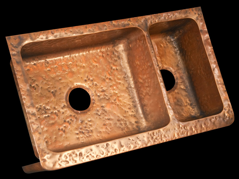 front sinks with in farmhouse scroll design sinkology pure handmade kitchen copper antique sink apron bowl ganku single p