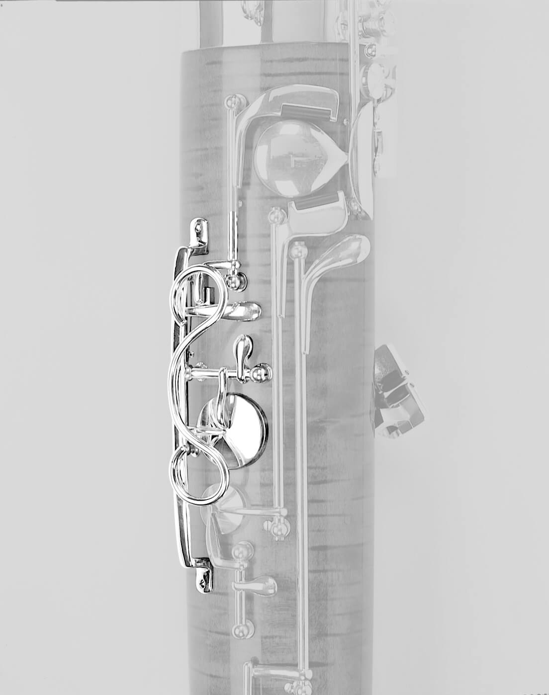B flat Spectacle Guard, Silver Plated
