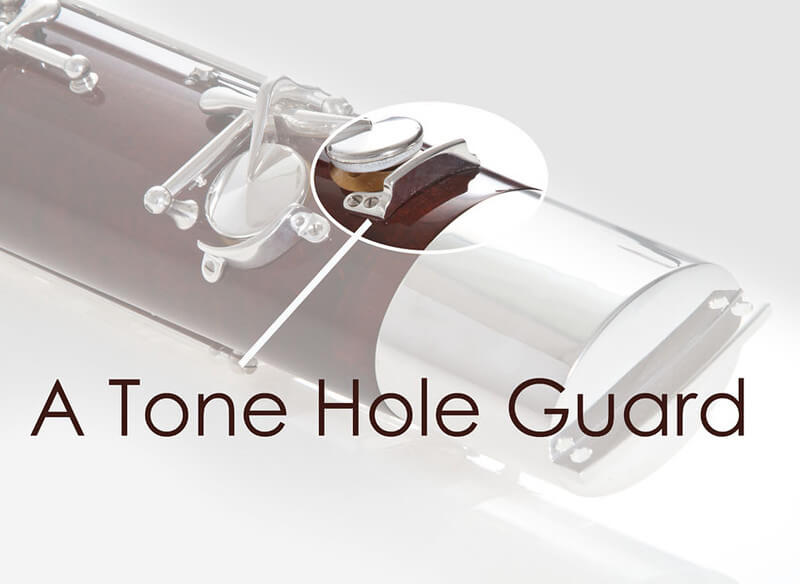 A Tone Hole Guard, Silver Plated
