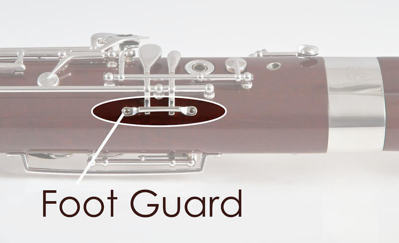 B Flat / G Foot Guard, Silver Plated