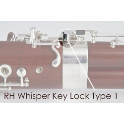 Right Hand whisper Key Lock Type 1, Silver Plated
