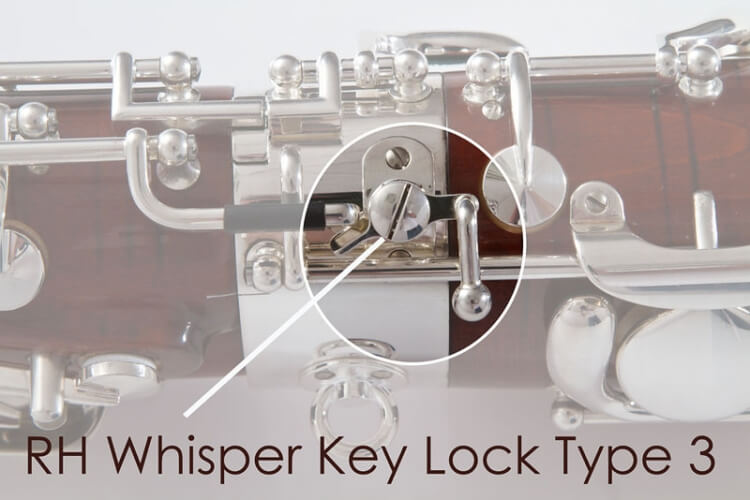 Right Hand whisper Key Lock Type 3, Silver Plated