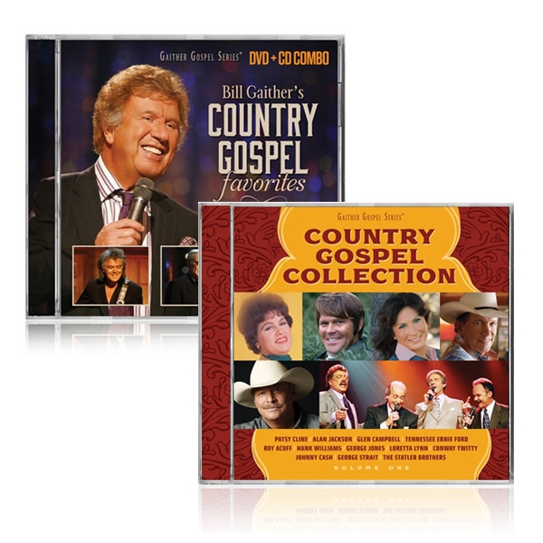 Bill Gaithers Country Gospel DVD/CD w/Country Gospel Collection CD